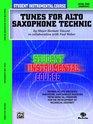 Student Instrumental Course Tunes for Alto Saxophone Technic