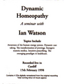 Dyanmic Homeopathy
