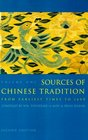 Sources of Chinese Tradition Vol 1