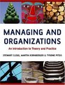 Managing and Organizations  An Introduction to Theory and Practice