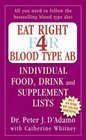 Eat Right for Blood Type AB Individual Food Drink and Supplement Lists