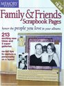 Memory Makers Family  Friends Scrapbook Pages