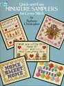 Quick and Easy Miniature Samplers for Cross-Stitch (Dover Needlework Series)