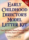 Early Childhood Director's Model Letter Kit Over 240 Letters Memos Forms and More for Every Aspect of Your Job