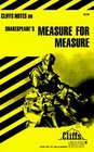 Cliffs Notes: Shakespeare's Measure for Measure