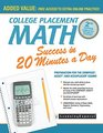 College Placement Math Success in 20 Minutes a Day Preparation for the COMPASS ASSET and ACCUPLACER Exams