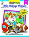 Colorful File Folder Games Grade 1 Skill-building Center Activities for Language Arts and Math