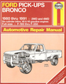 Ford Pick-Ups / Bronco 1980 thru 1991 Automotive Repair Manual