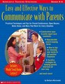Easy and Effective Ways to Communicate with Parents (Grades K-6)