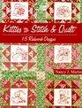Kitties to Stitch  Quilt 15 Redwork Designs