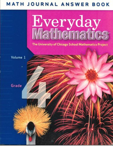 Everyday Mathematics Grade 4 Math Journal Answer Book Volume
